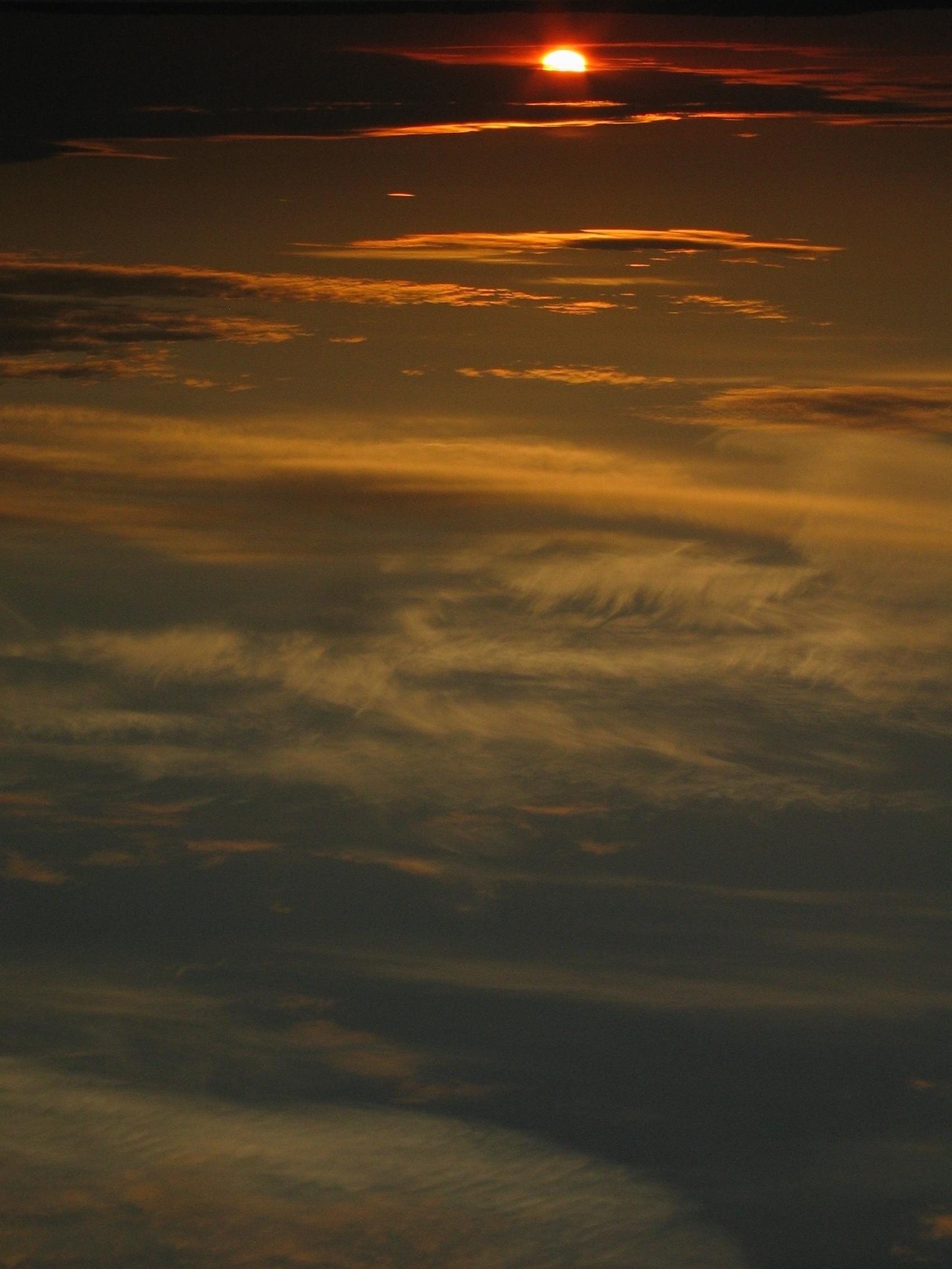Sunset turned upsidedown